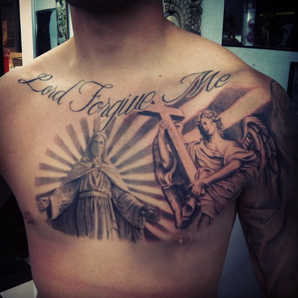 Angel Chest Tattoos : Page 11