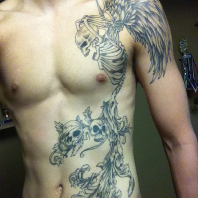 Angel Chest Tattoo Images & Designs