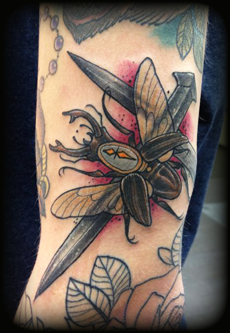 Green june bug tattoo - animalcarecollege info