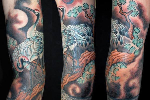 Crane Tattoo Images & Designs - photo#20