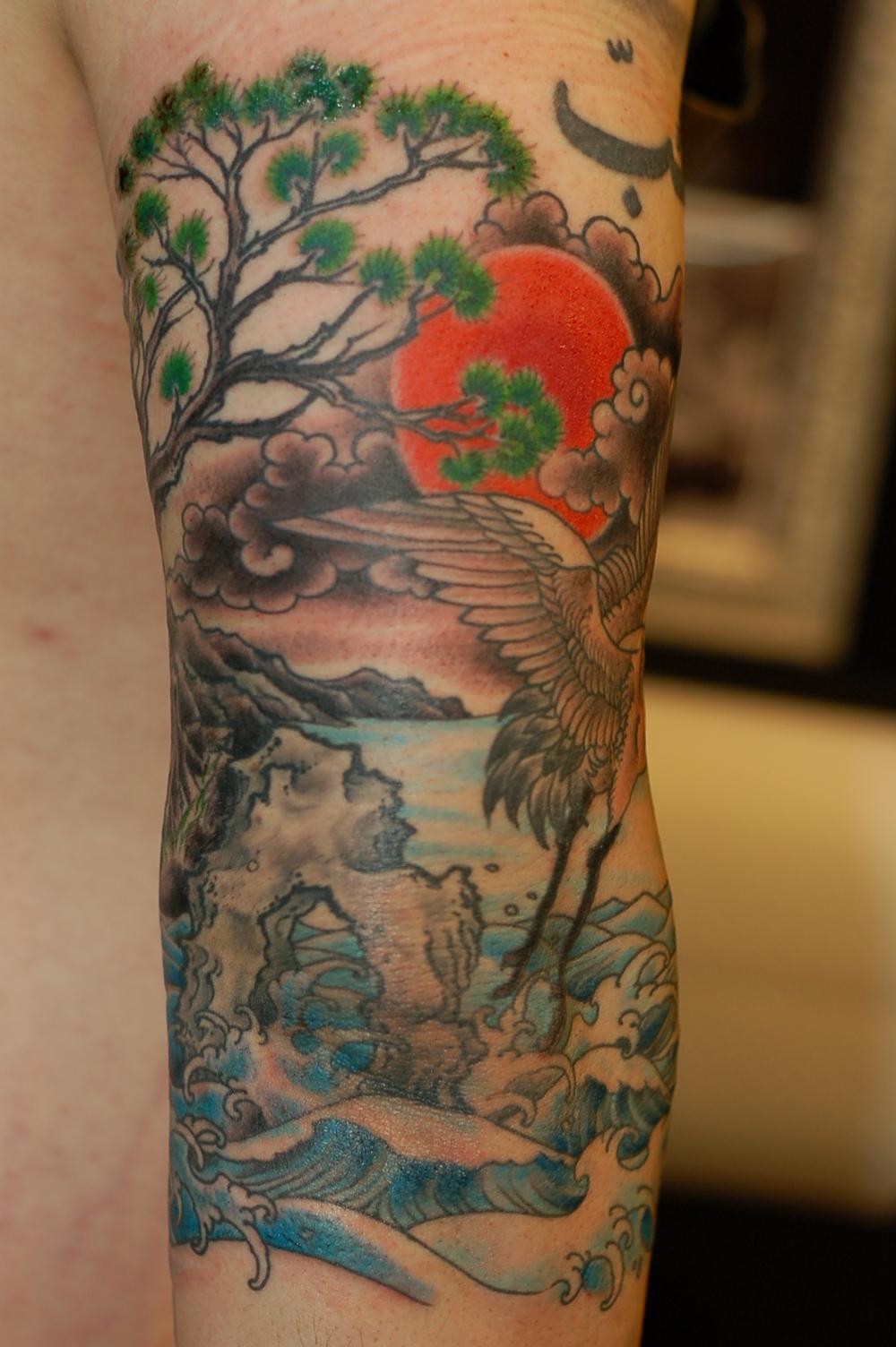 Crane Tattoo Images Amp Designs