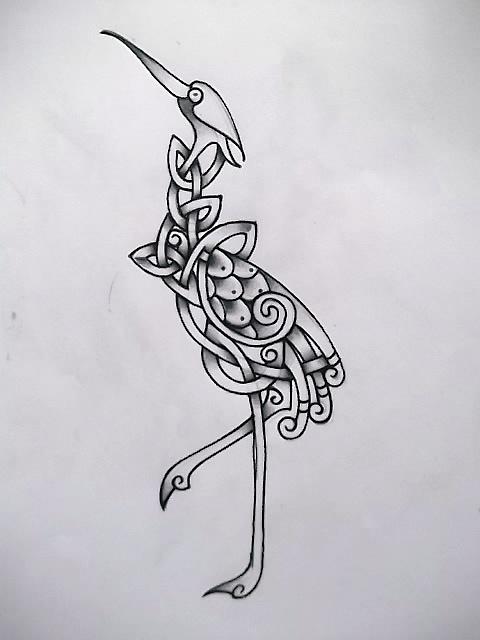 crane tattoo images designs. Black Bedroom Furniture Sets. Home Design Ideas