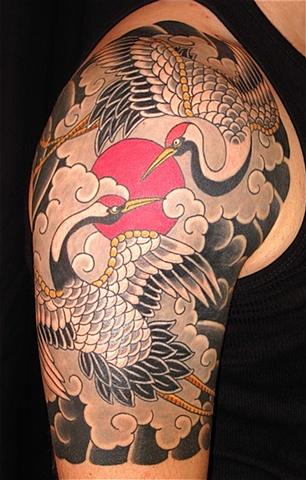 Crane Tattoo Images &amp Designs