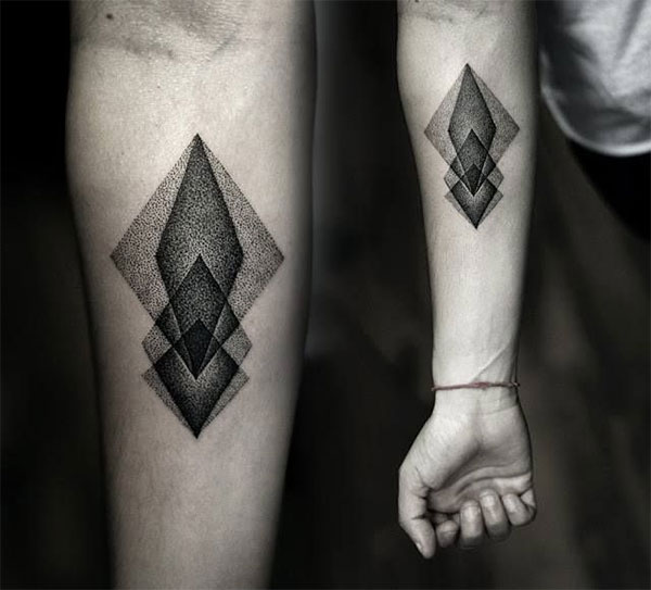 black geometric tattoo on forearm for girls. Black Bedroom Furniture Sets. Home Design Ideas