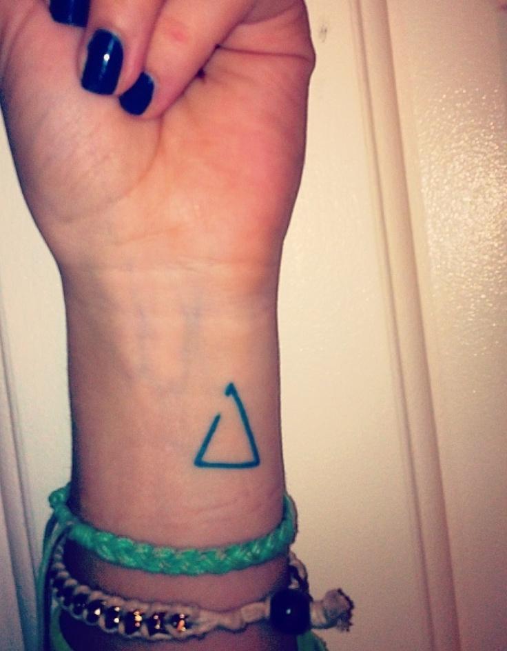 Geometric Triangle Tattoo On Left Wrist