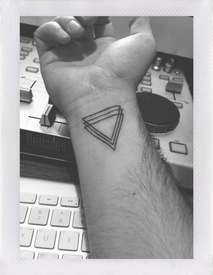 geometric triangle tattoo on right wrist. Black Bedroom Furniture Sets. Home Design Ideas