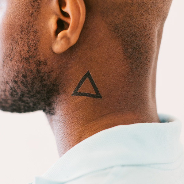 Geometric tattoo images designs for Side neck tattoos