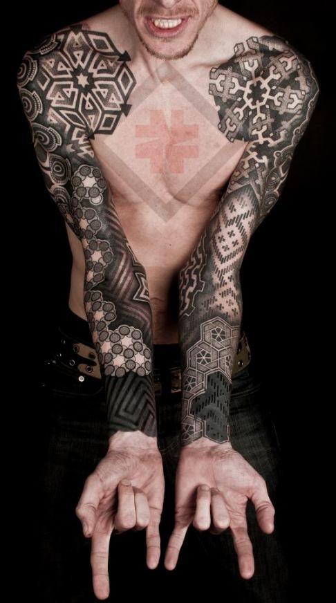 Geometric Tattoo Sleeve: Geometric Tattoo Images & Designs