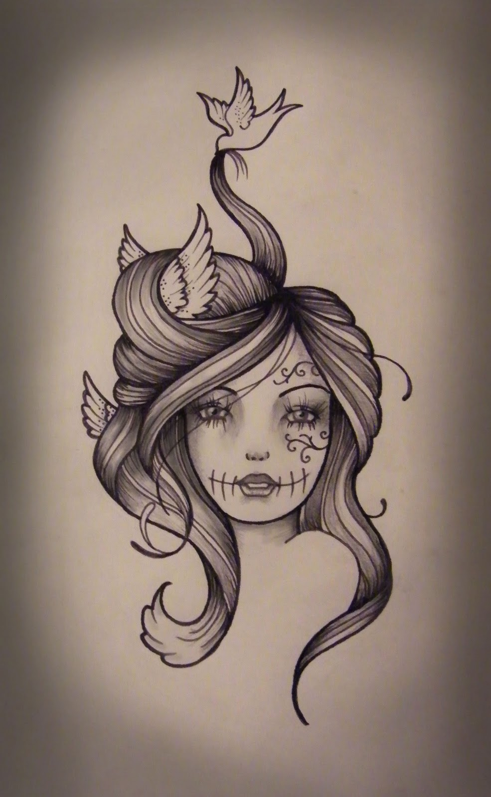 Gypsy tattoo images designs for Girlfriend tattoo designs