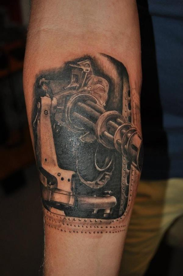 Gun tattoos designs ideas page 70 for How to put ink in a tattoo gun