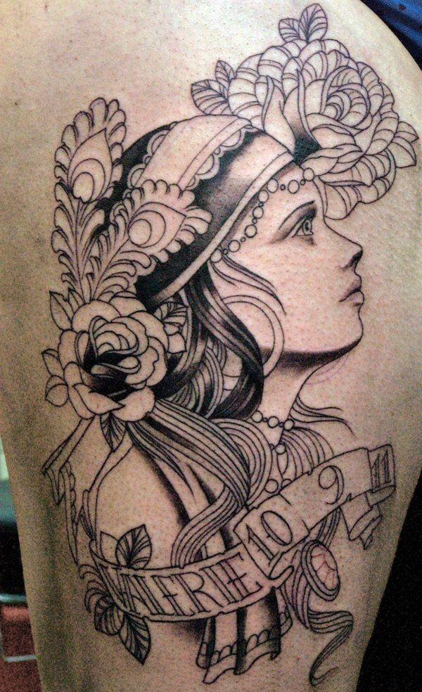 Gypsy Girl Tattoo DesignsVintage Gypsy Tattoo