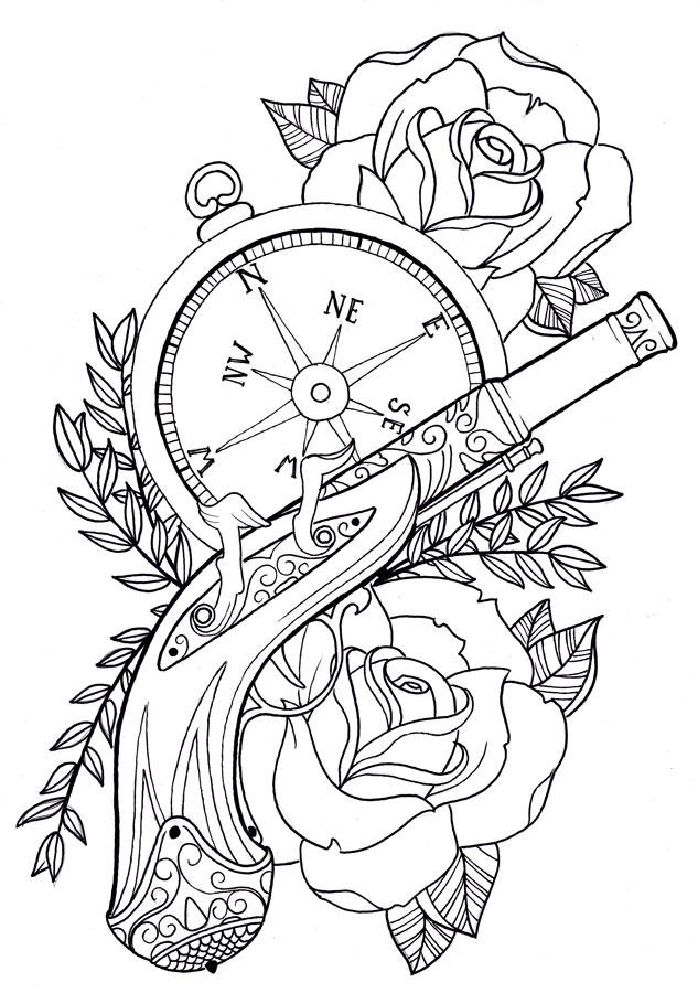 Gun Tattoo Images Designs