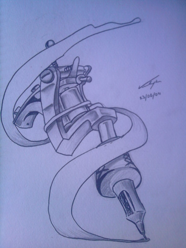 Tattoo Machine Gun Tattoo Design