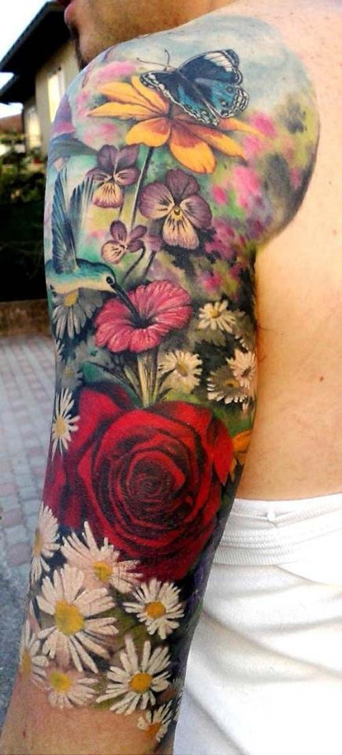Half - Sleeve Tattoo Images & Designs