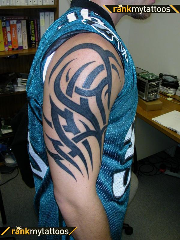 Half sleeve tattoo images designs for Mens tribal sleeve tattoos