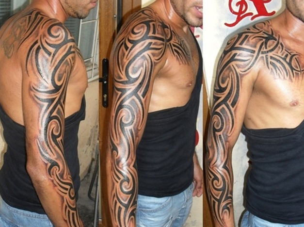 Black Man Tattoo Sleeve: Sleeve Tattoo Images & Designs