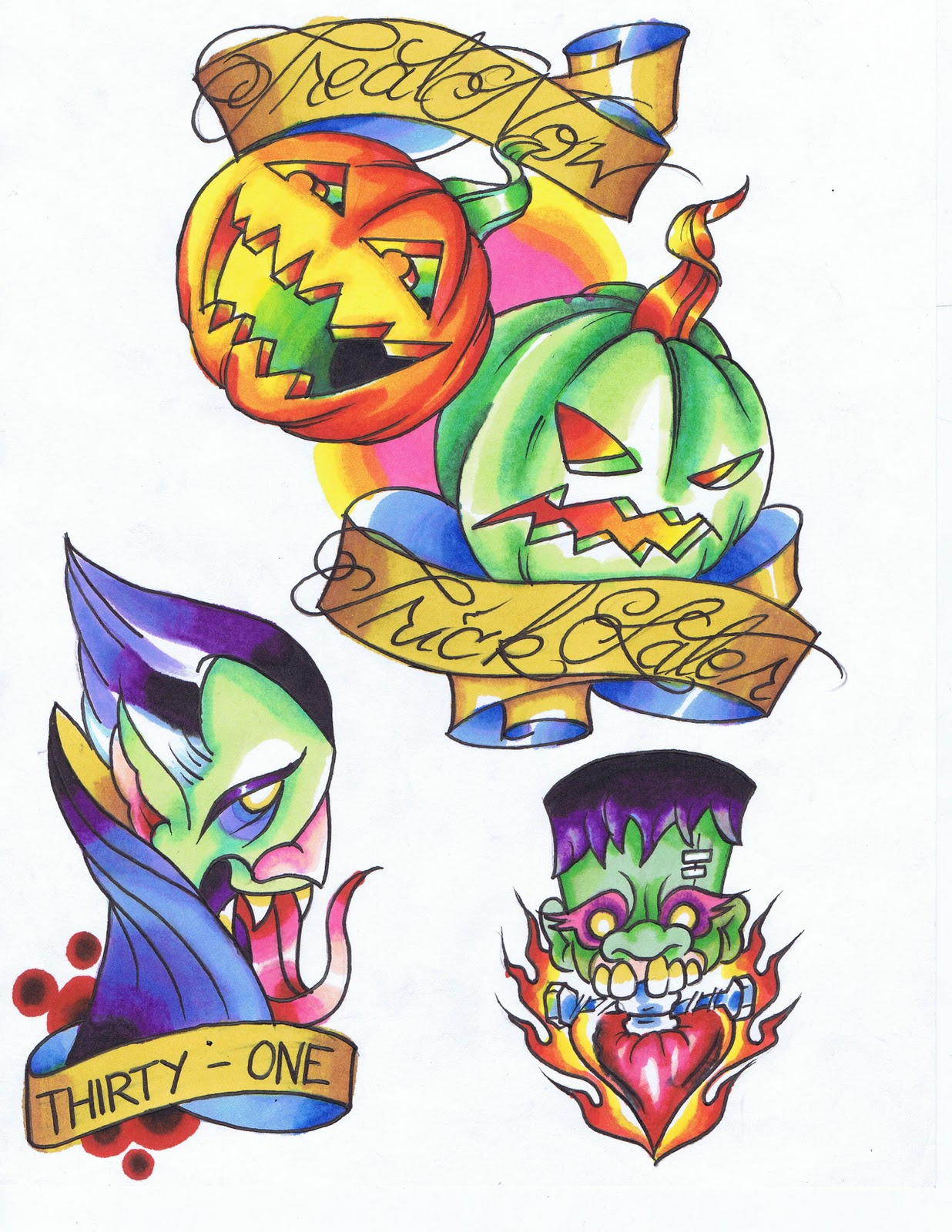 Halloween Tattoo Images & Designs