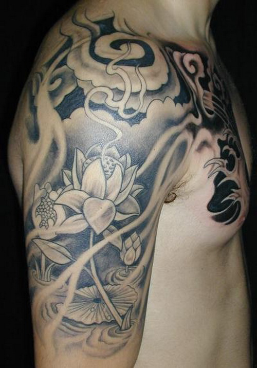 Half Sleeve Cloud Tattoos For Men Half - Sleeve T...