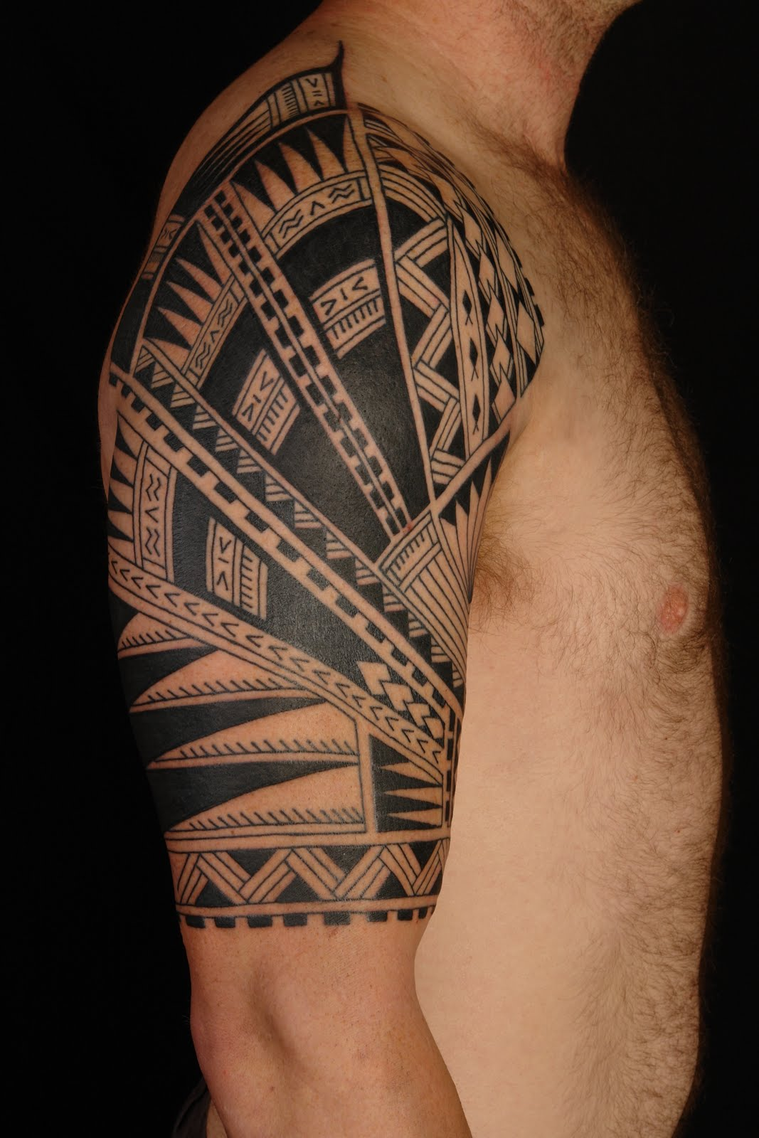 Hawaiian Tribal Half Sleeve Tattoo