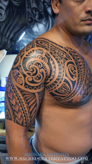 Chest And Sleeve Tattoo: Sleeve Tattoo Images & Designs