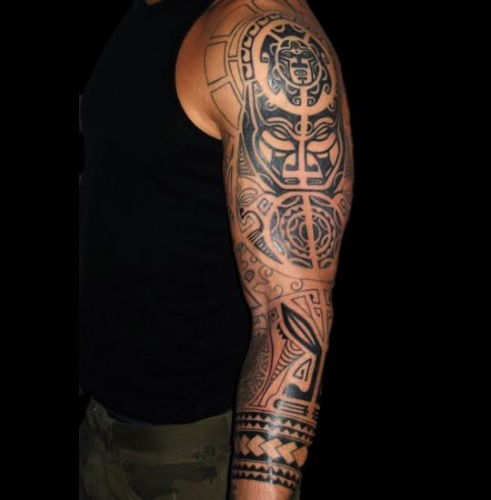 Maori Half Sleeve Tattoo: Maori Half Sleeve Tattoo