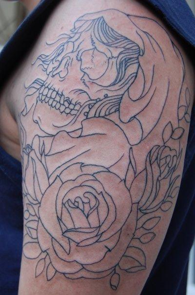 Rose Tattoo Sleeve Outline Gypsy Tattoos :...