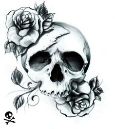 skull and rose tattoos  Rose Flowers And Skull ...