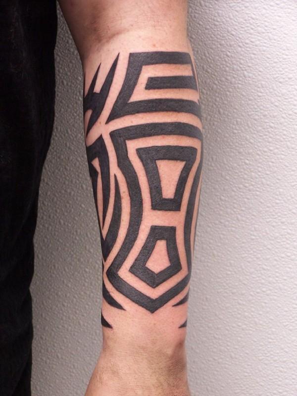 Unique Black Tribal Half Sleeve Tattoo For Men