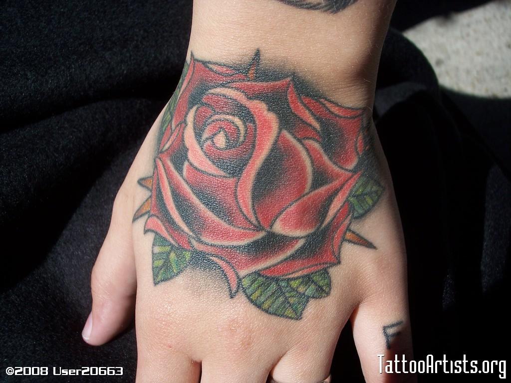 Amazing Flower Tattoo On Hand