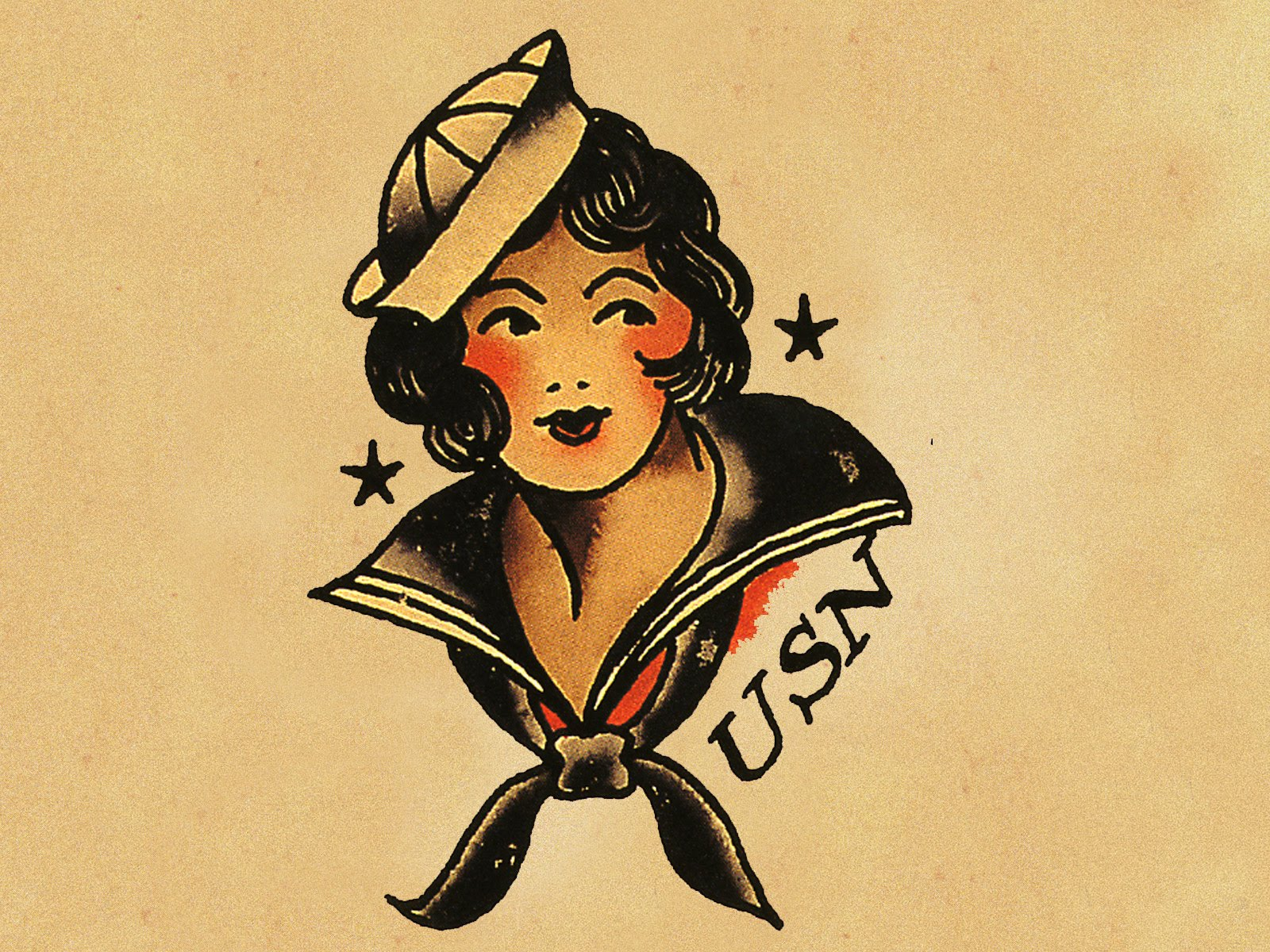 Colored Ink Sailor Jerry Tattoos Designs