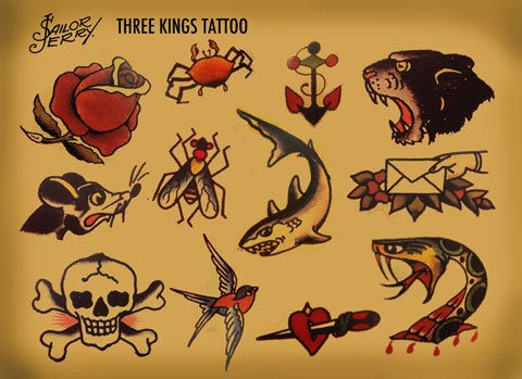sailor jerry shark tattoos. Black Bedroom Furniture Sets. Home Design Ideas