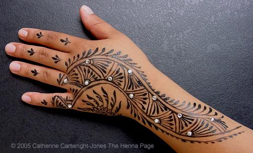 22a0eb2804e68 Black Tribal Hand Tattoo On Girl Left Hand