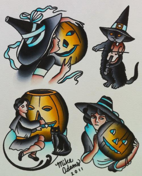 Halloween Style Tattoos: Halloween Tattoo Images & Designs