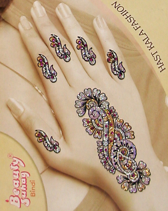 Colored Henna Tattoo: Hand Tattoos : Page 76
