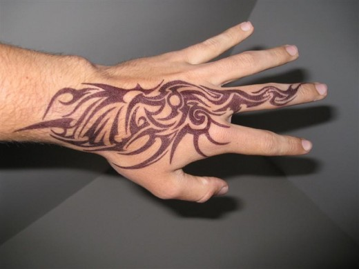 e823861380e2d Cool Tribal Tattoo On Right Hand