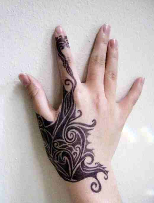 Tribal Tattoos For Women On Hand