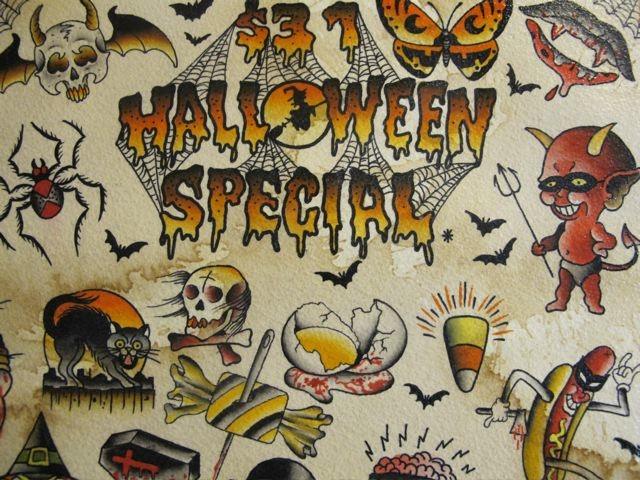 Halloween Tattoo Images amp Designs