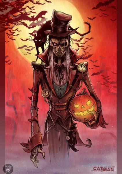 Nightmare Halloween Tattoo Design