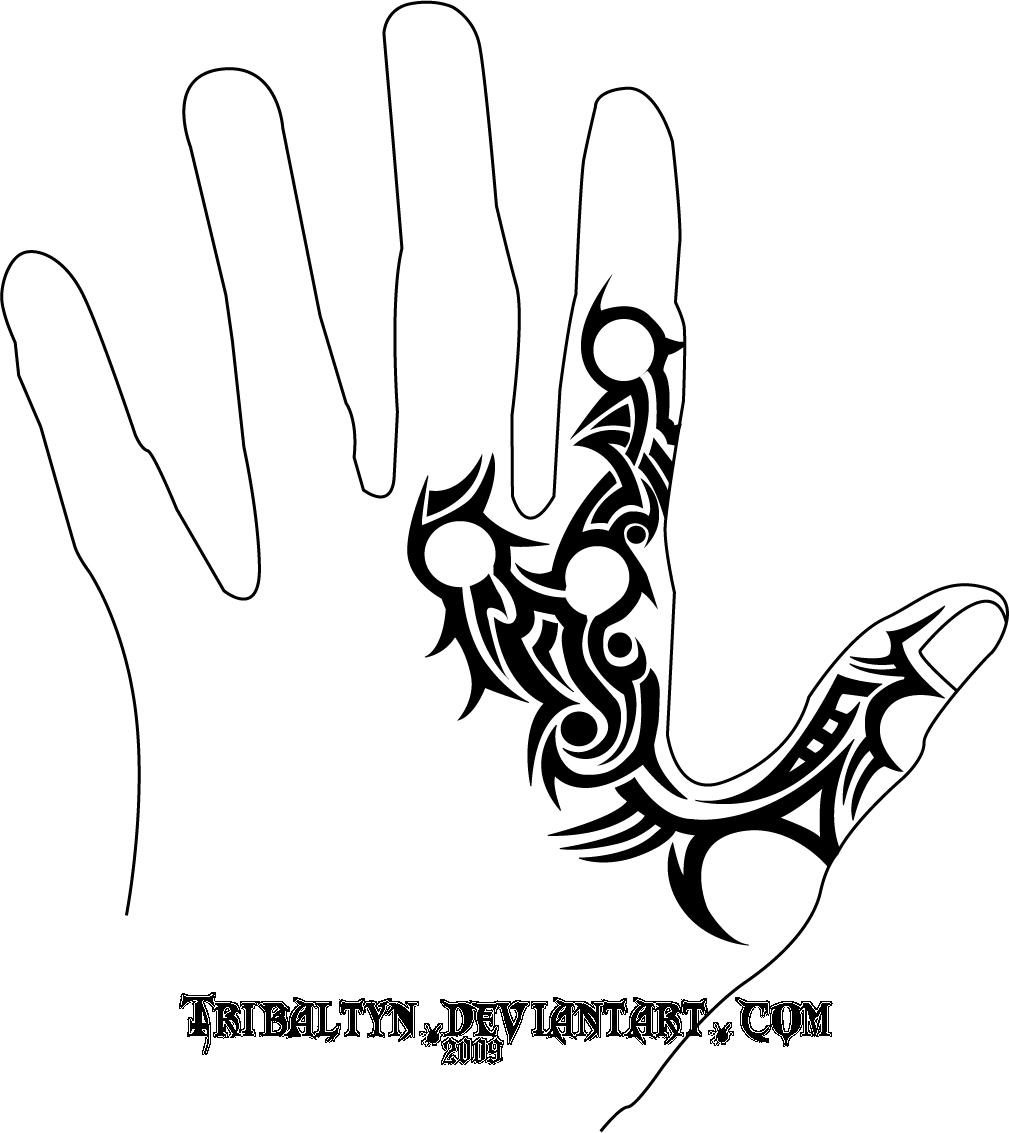 Tribal Hand Tattoo