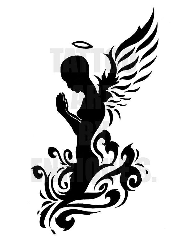 praying angel tattoo images designs. Black Bedroom Furniture Sets. Home Design Ideas