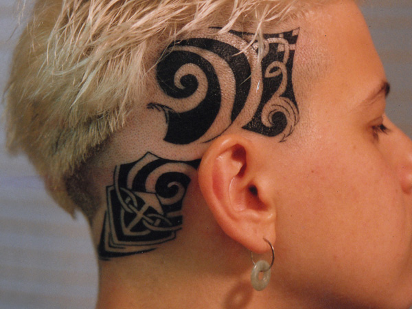 Head tattoo images designs for Tattoos on side of head