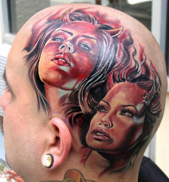 Head Tattoo Images & Designs