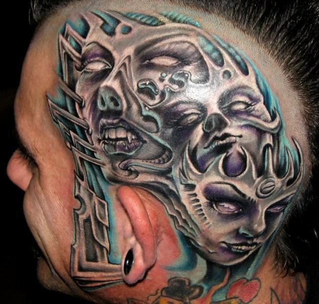 Head Tattoo Images Amp Designs