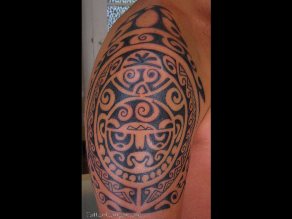 Hawaiian tattoo images designs for Polynesian tiki tattoo