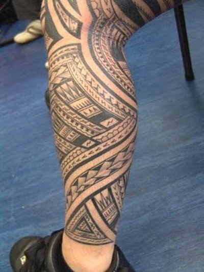 Leg tattoos for men tattoos art for Polynesian thigh tattoo