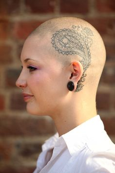 Henna Head Tattoo For Girls
