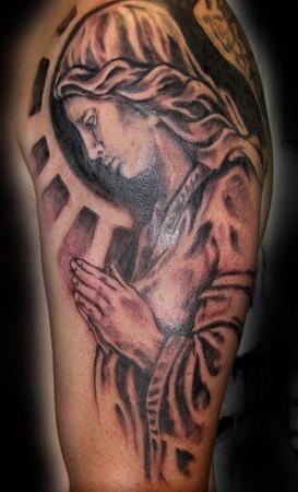 Praying angel tattoo images designs for Praying angel tattoos