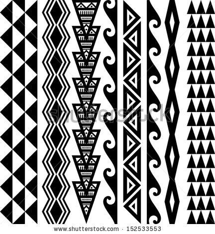Pin Hawaiian-triangle-tribal-tattoo-vinyl-surf-sticker on ...