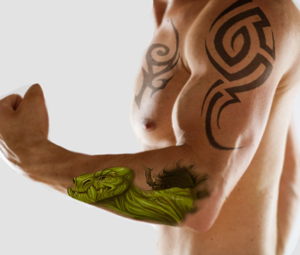 Tribal Hawaiian Tattoo On Left Half Sleeve