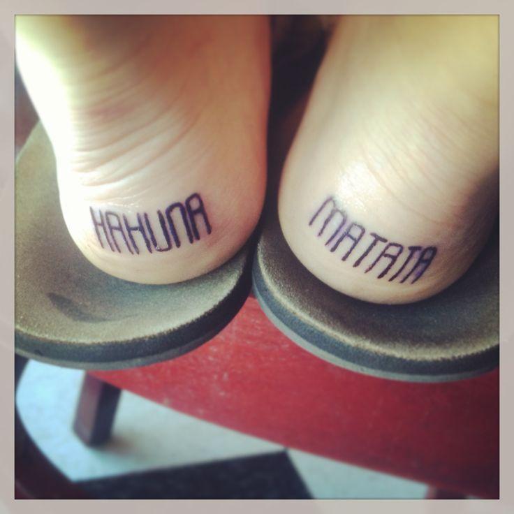 Hakuna Matata Back Heel Tattoos